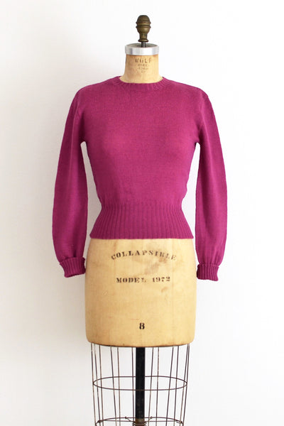 Plum Sweater - Pickled Vintage