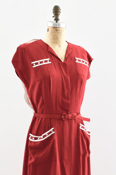 1950s Bowling Dress