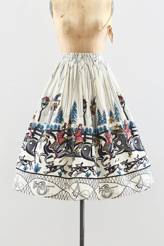 Saul Steinberg Tally Ho Fox Hunt Skirt