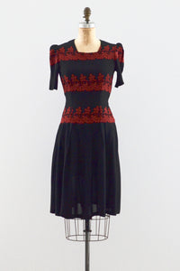 30s Embroidered Dress