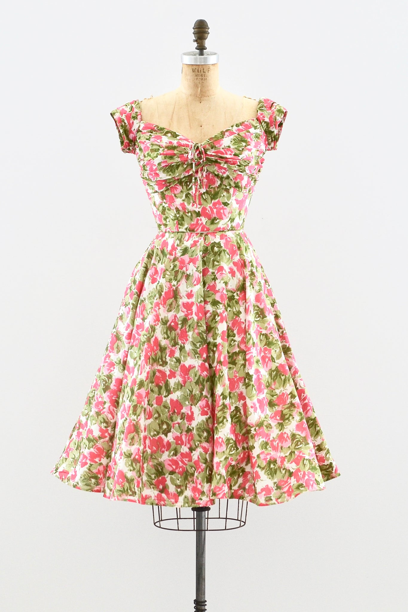 1950s Floral Day Dress