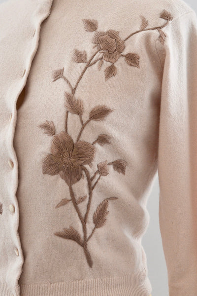 1950s Embroidered Cardigan