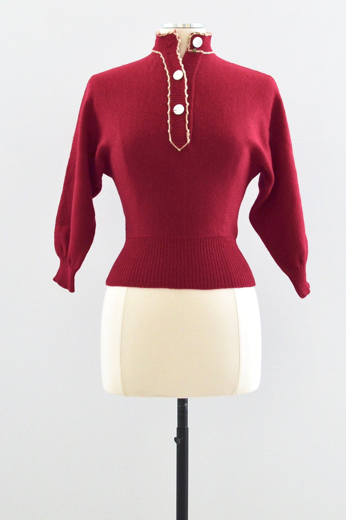 50s Berry Sweater