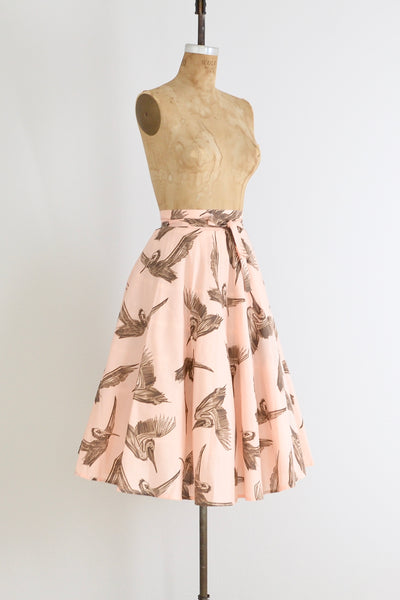 Crane Wrap Skirt - Pickled Vintage