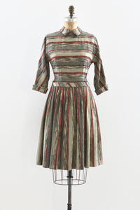 1950s Striped Dress