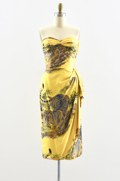 Rare Pauline Lake Silk Dress