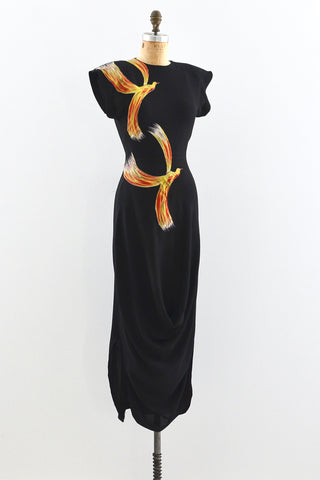 1940s Firebird Dress