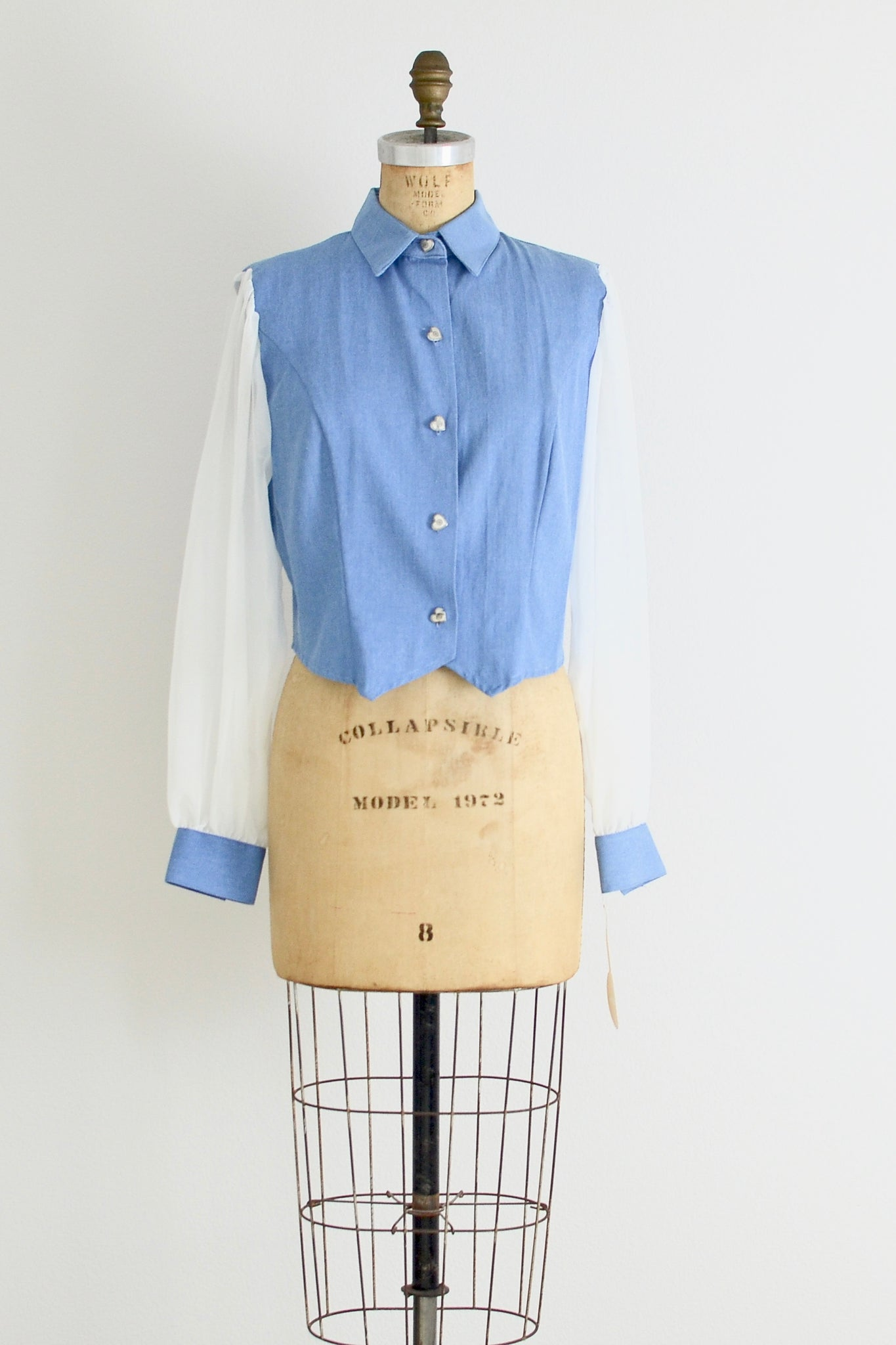 Chiffon Sleeve Western Shirt - Pickled Vintage