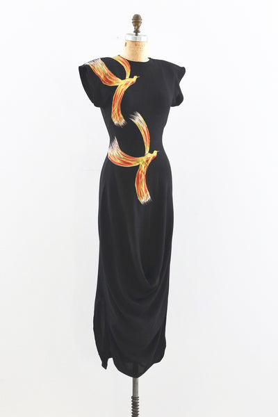 RESERVED... 40s Firebird Dress