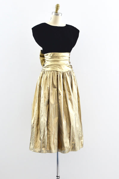1980s Open Back Dress