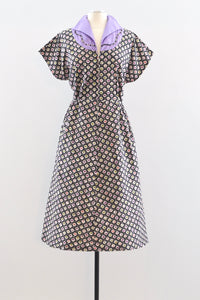 50s Novelty Print Dress