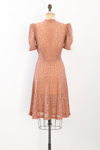 40s Star Burst Lace Dress