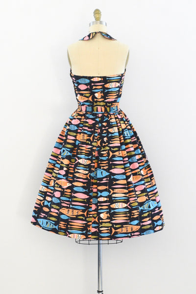 Novelty Fish Print Dress