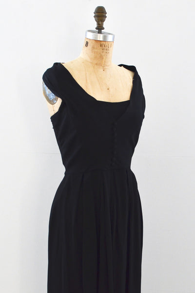 50s Off Shoulder Dress