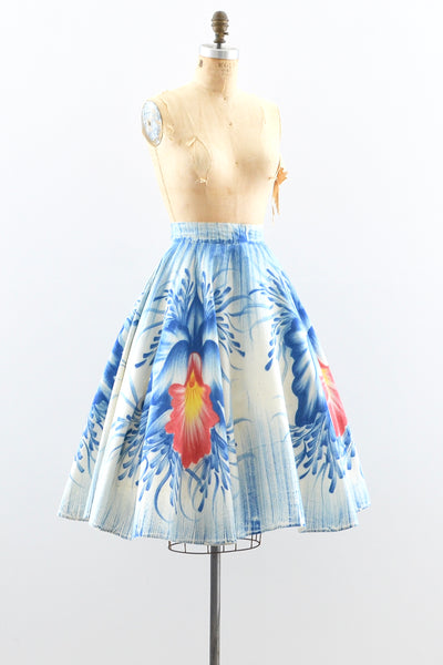 1950s Handpainted Skirt