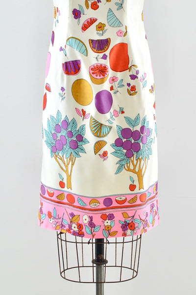Novelty Print Sheath Dress