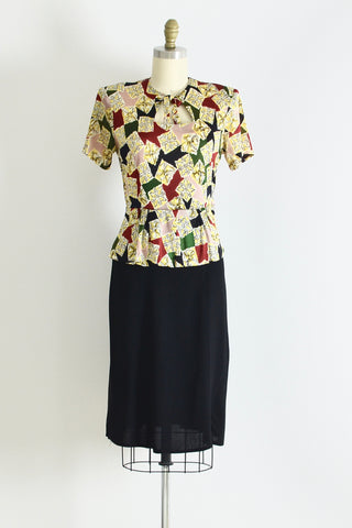 1940s Peplum Dress - Pickled Vintage