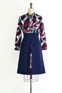 60s Ascot Dress - Pickled Vintage