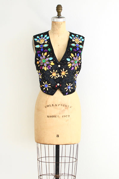 Jeweled Vest - Pickled Vintage