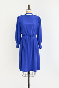 Blue Silk Dress - Pickled Vintage
