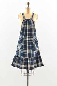 Plaid Jumper Dress