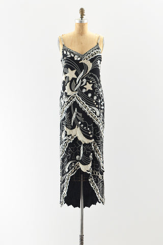 Oleg Cassini Beaded Dress
