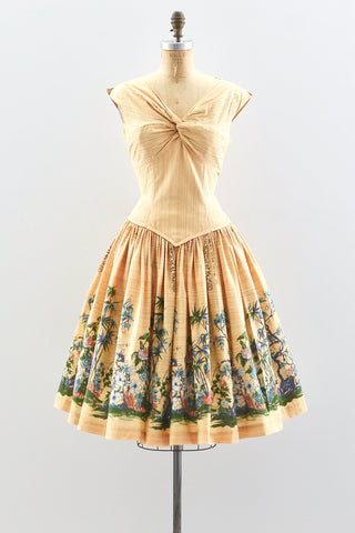 1950s Chinoiserie Dress