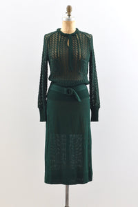 1930s Forest Green Set