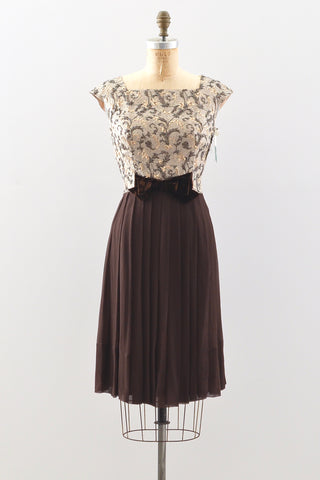 1950s Chiffon Dress