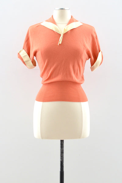 50s Coral Sweater
