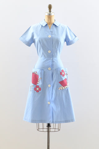 1950s Button Front Dress