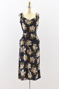 40s Novelty Print Dress