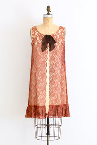 Lace Overlay Dress - Pickled Vintage