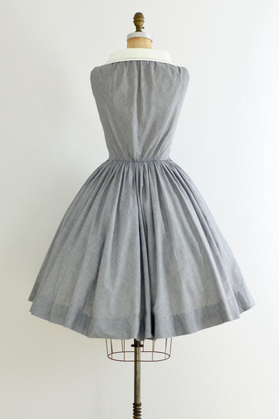 Portrait Collar Dress - Pickled Vintage