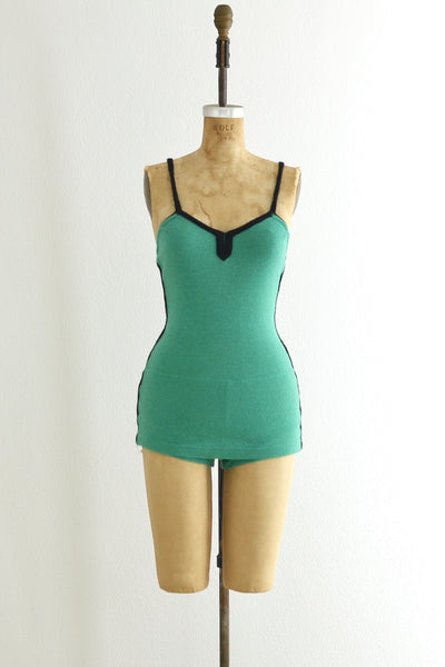 Rare 30s Seafoam Swimsuit - Pickled Vintage