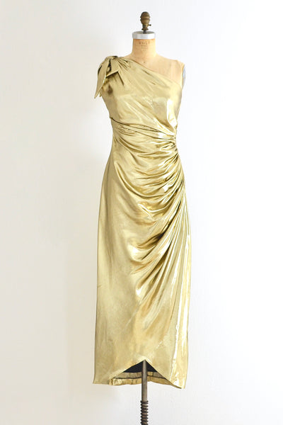Gold Lame Dress - Pickled Vintage