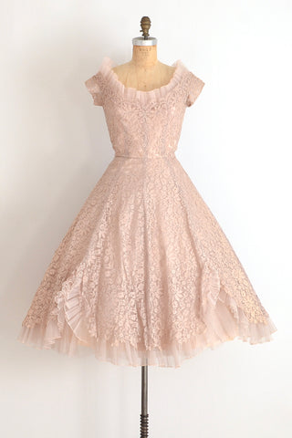 Peggy Hunt Lace Dress - Pickled Vintage