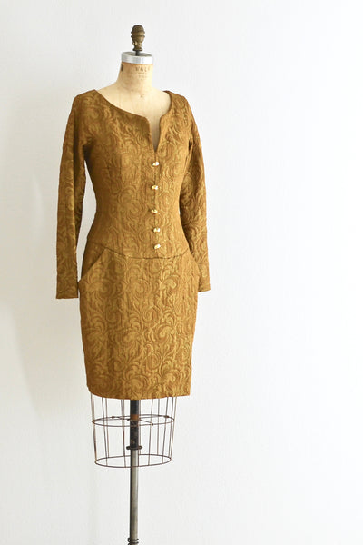 Anne Klein Jacquard Dress - Pickled Vintage