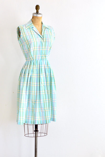 Plaid Cotton Dress - Pickled Vintage