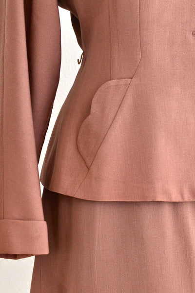 Taupe Gabardine Suit - Pickled Vintage
