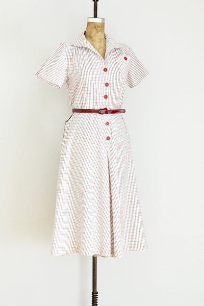 1930s Red Culotte Jumpsuit - Pickled Vintage