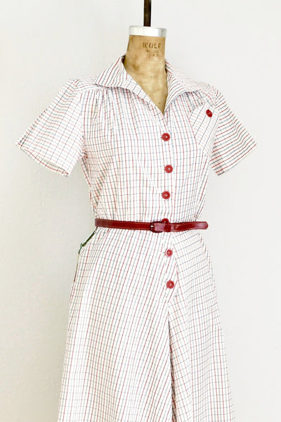1940s Red Culotte Jumpsuit - Pickled Vintage