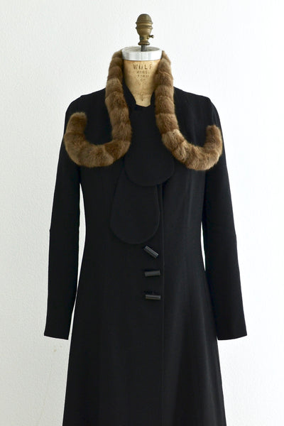 SOLD Vintage 1930s Fur Trim Coat - Pickled Vintage