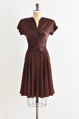 1940s Brown Dress - Pickled Vintage