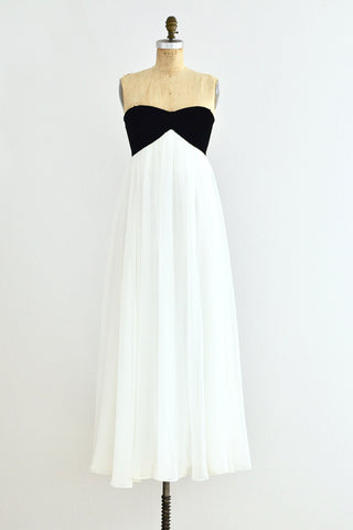 Alan Cherry Strapless Gown - Pickled Vintage