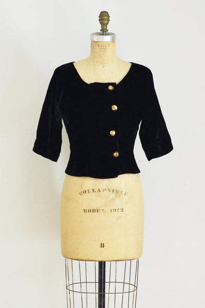 50s Velvet Top - Pickled Vintage