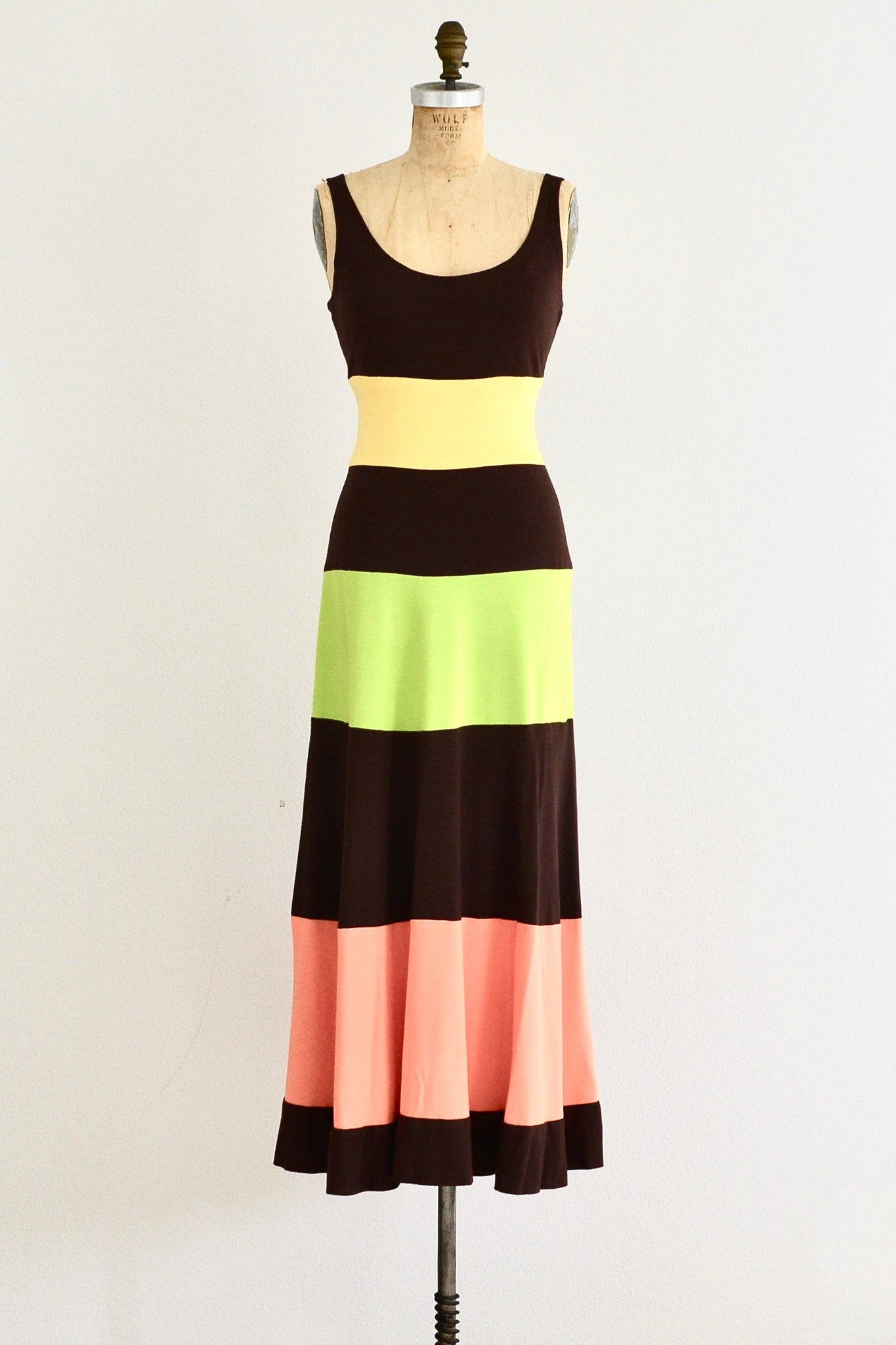 Colorblock Dress - Pickled Vintage