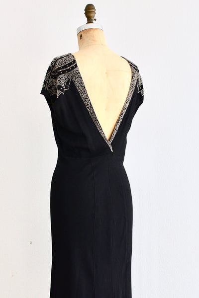 1930s Beaded Dress - Pickled Vintage