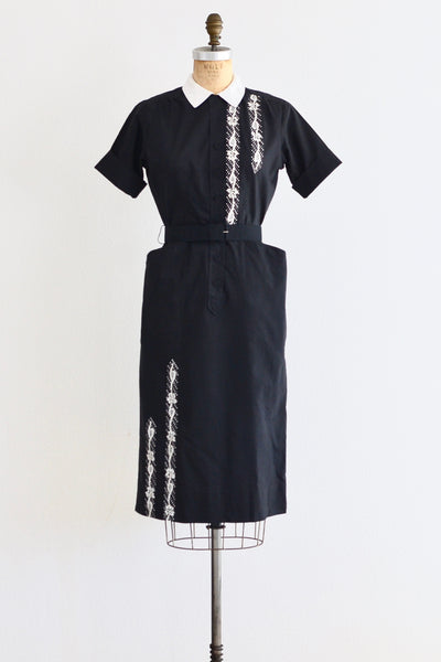 Painted Shirtwaist Dress - Pickled Vintage