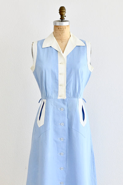 Periwinkle Waffle Dress - Pickled Vintage
